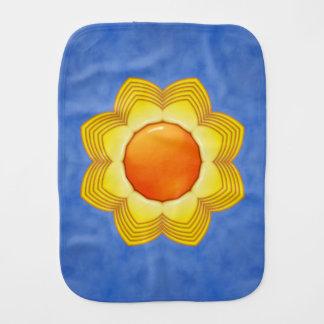 Sunny Day Kaleidoscope  Burp Cloth