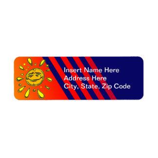 Sunny Day Return Address Label