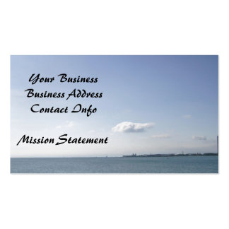 Sunny Day on Lake Michigan Shores Double-Sided Standard Business Cards (Pack Of 100)
