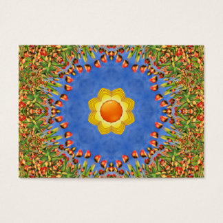 Sunny Day  Pattern  Colorful Business Cards