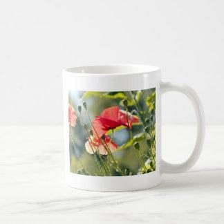 Sunny day poppies coffee mugs