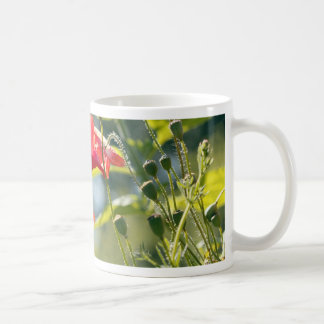 Sunny day poppies mugs