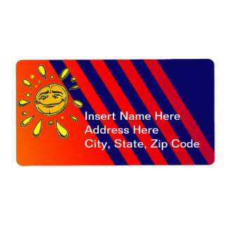 Sunny Day Shipping Label