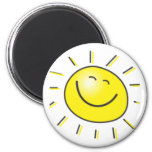 Sunny day, smiling sun, Day to smile! 6 Cm Round Magnet