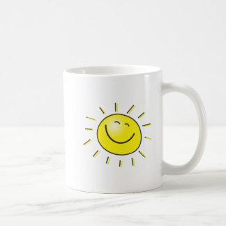 Sunny day, smiling sun, Day to smile! Basic White Mug