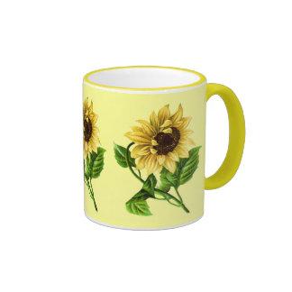 Sunny Day Sunflower Ringer Mug