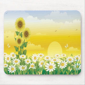 Sunny Day Sunflowers and Flowers Mousepad