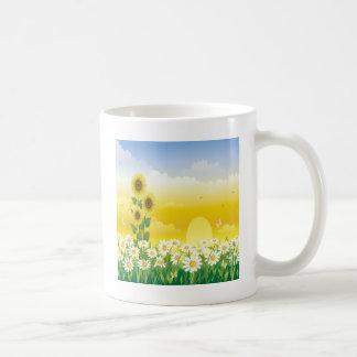 Sunny Day, Sunflowers and Flowers Coffee Mug