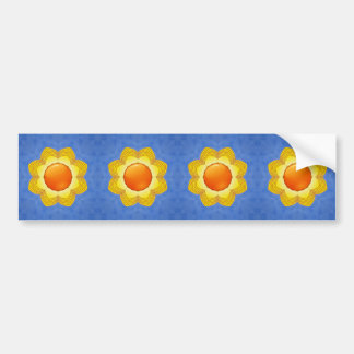 Sunny Day Vintage Kaleidoscope  Bumper Sticker