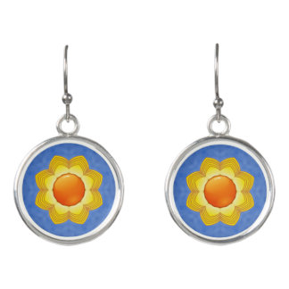 Sunny Day   Vintage Kaleidoscope    Drop Earrings