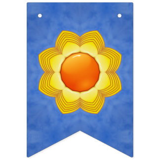 Sunny Day  Vintage Kaleidoscope   Party Flags