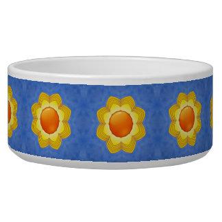 Sunny Day Vintage   Kaleidoscope  Pet Dish Dog Bowl