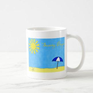 Sunny Days Beach Scene Coffee Mugs