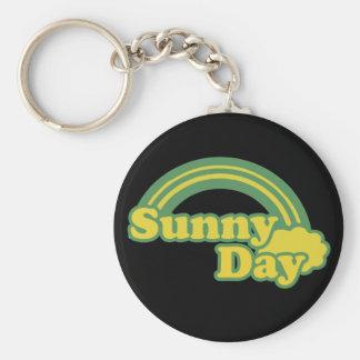 Sunny Days retro 80s cartoon Basic Round Button Key Ring