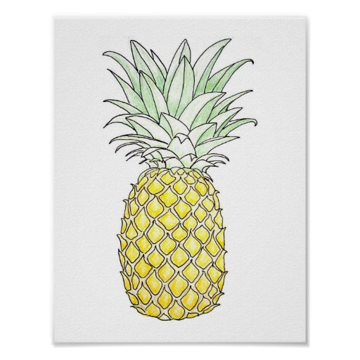Sunny Disposition: Pineapple Poster
