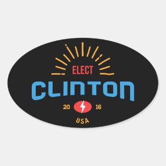 Sunny Election Clinton USA Oval Sticker