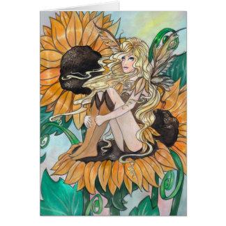 """""""Sunny"""" fairy blank greeting card"""