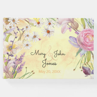 Sunny Floral Bunches Guest Book
