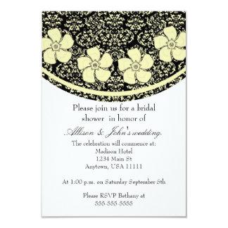 Sunny Floral Damask Bridal Shower Invitation