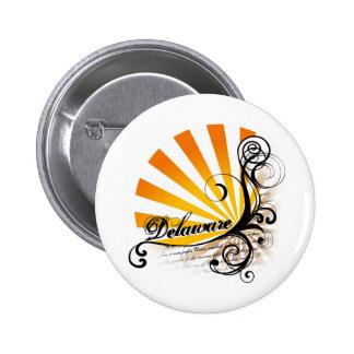 Sunny Floral Graphic Delaware Button