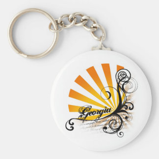 Sunny Floral Graphic Georgia Keychain