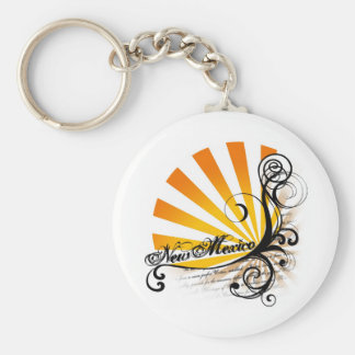 Sunny Floral Graphic New Mexico Keychain