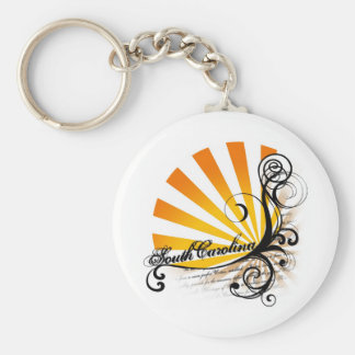 Sunny Floral Graphic South Carolina Keychain