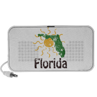Sunny Florida Logo Doodle Mp3 Speakers