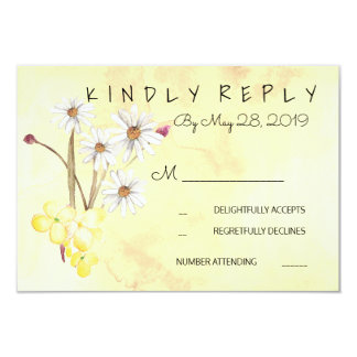 Sunny Flower Bunch RSVP Card