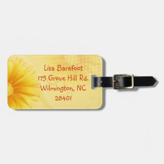 Sunny Flower Luggage Tags