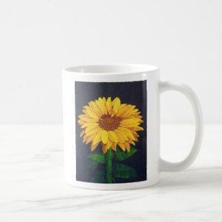 Sunny Flower Basic White Mug