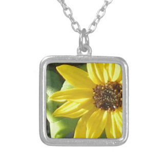 Sunny Flower Silver Plated Necklace