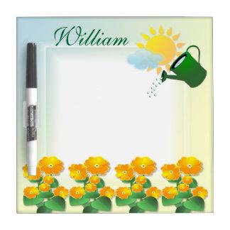 Sunny Flowers ~ Dry Erase Board