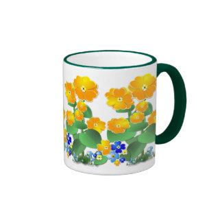 Sunny Flowers ~ Ringer mug