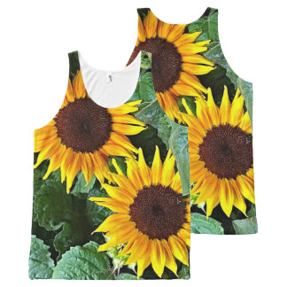 Sunny Flowers Tank Top All-Over Print Tank Top