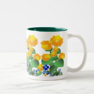 Sunny Flowers ~ Two-Tone Mug