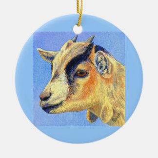 """Sunny Goat"" - Pygmy Goat Ornament"