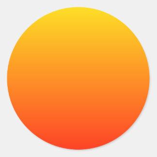 Sunny Gradient Classic Round Sticker