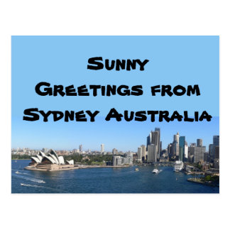 Sunny greetings from Sydney Australia Postcard