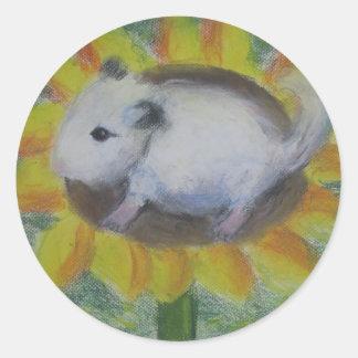 Sunny hamster classic round sticker