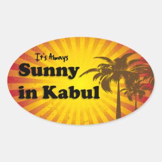 Sunny in Kabul Oval Sunburst Sticker