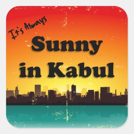 Sunny in Kabul (retro cityscape) Sticker