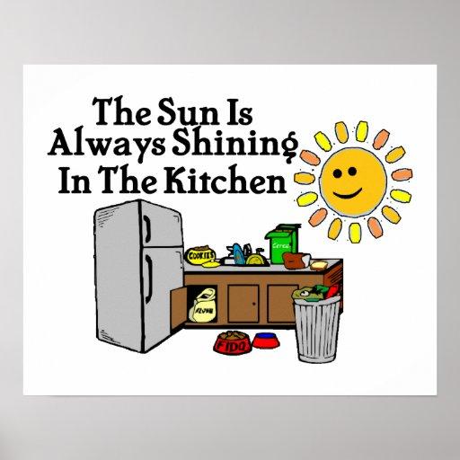 Sunny Kitchen Poster