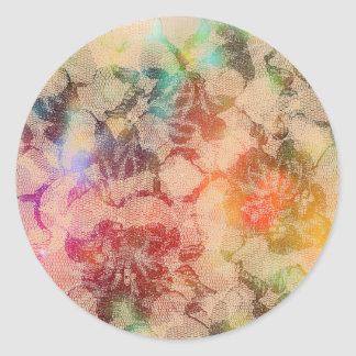 Sunny Lace Roses Round Sticker