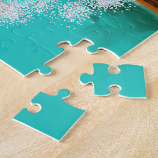 Sunny Lagoon Abstract Jigsaw Puzzle