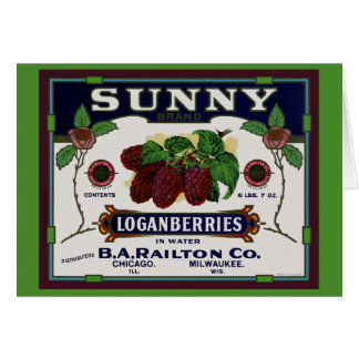 Sunny Loganberry Fruit Card