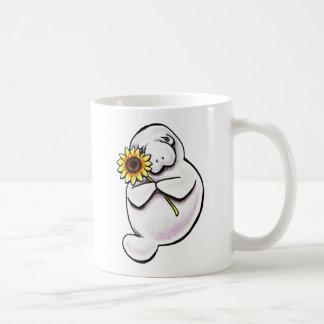 Sunny Manatee Off-Leash Art™ Coffee Mug
