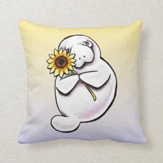 Sunny Manatee Off-Leash Art™ Cushion