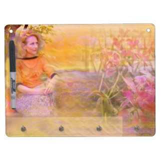 Sunny Moments Dry Erase Board With Key Ring Holder