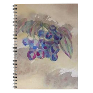 Sunny Morning Blueberries Kitchen Cooking Foods Notebook